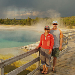 Mel and Aaron enjoying West Yellowstone Park