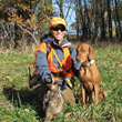 Mel with Vizsla Thunder and pheasant